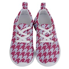HOUNDSTOOTH1 WHITE MARBLE & PINK DENIM Running Shoes