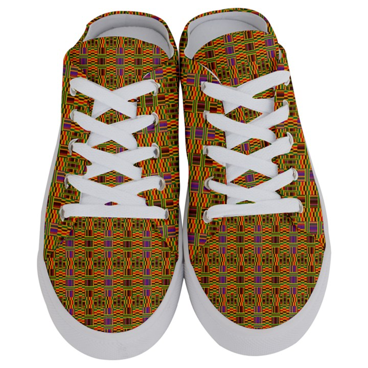 Colourful Kente Print Women s Half Slippers