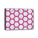HEXAGON2 WHITE MARBLE & PINK DENIM (R) Mini Canvas 7  x 5  View1