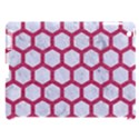 HEXAGON2 WHITE MARBLE & PINK DENIM (R) Apple iPad 3/4 Hardshell Case (Compatible with Smart Cover) View1