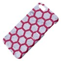 HEXAGON2 WHITE MARBLE & PINK DENIM (R) Apple iPhone 5 Hardshell Case with Stand View4