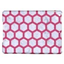 HEXAGON2 WHITE MARBLE & PINK DENIM (R) iPad Air Hardshell Cases View1