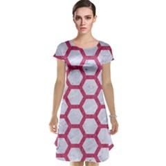 HEXAGON2 WHITE MARBLE & PINK DENIM (R) Cap Sleeve Nightdress