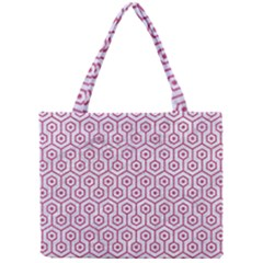 Hexagon1 White Marble & Pink Denim (r) Mini Tote Bag by trendistuff