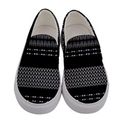 Black And White Tribal Women s Canvas Slip Ons