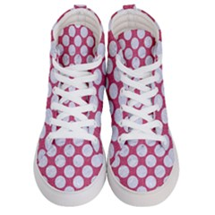 Circles2 White Marble & Pink Denim Men s Hi Top Skate Sneakers