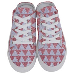 Triangle2 White Marble & Pink Glitter Half Slippers