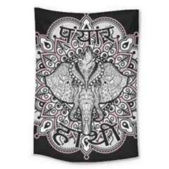 Ornate Hindu Elephant  Large Tapestry