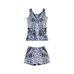 Ornate Hindu Elephant  Kid s Boyleg Swimsuit