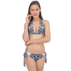 Ornate Hindu Elephant  Tie It Up Bikini Set