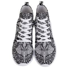 Ornate Hindu Elephant  Men s Lightweight High Top Sneakers