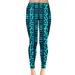 Tribal Leopard Print Leggings