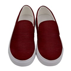 Red Lizard Leather Print Women s Canvas Slip Ons