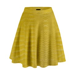 Yellow Alligator Skin High Waist Skirt