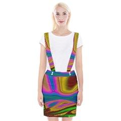Colorful Waves Braces Suspender Skirt