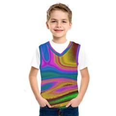 Colorful Waves Kids  Sportswear
