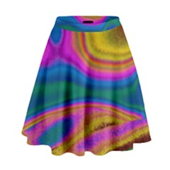 Colorful Waves High Waist Skirt by LoolyElzayat