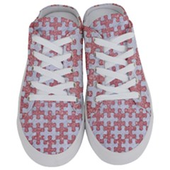 Puzzle1 White Marble & Pink Glitter Half Slippers