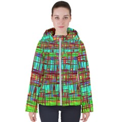 Scratched Texture                                    Women s Hooded Puffer Jacket
