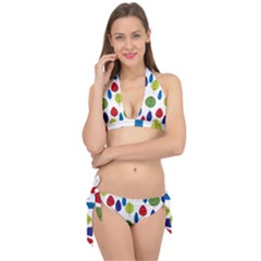 Retro Trees Leaf Tie It Up Bikini Set