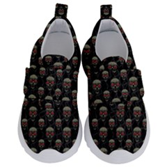 Skulls Motif Pattern Velcro Strap Shoes by dflcprints