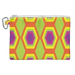 Geometric Retro Pattern Canvas Cosmetic Bag (xl) by goodart