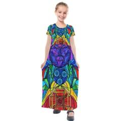 Arcturian Conjunction Grid   Kids  Short Sleeve Maxi Dress