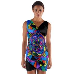 Activating Potential    Wrap Front Bodycon Dress by tealswan