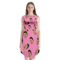 Crying Kim Kardashian Sleeveless Chiffon Dress
