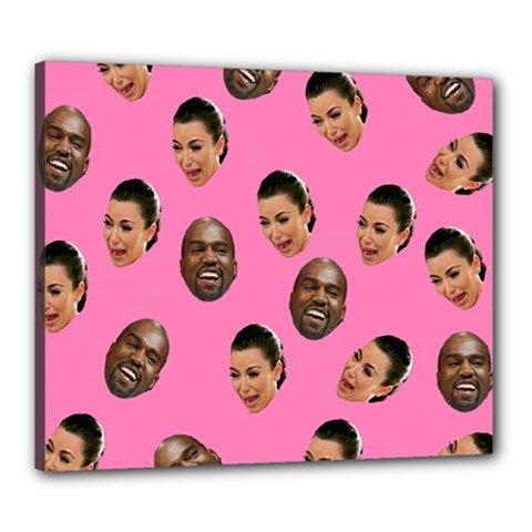 Crying Kim Kardashian Canvas 24  X 20  by Valentinaart
