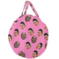 Crying Kim Kardashian Giant Round Zipper Tote by Valentinaart
