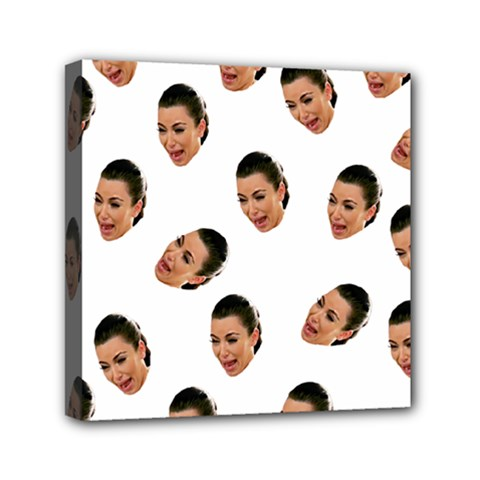 Crying Kim Kardashian Mini Canvas 6  X 6