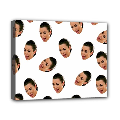 Crying Kim Kardashian Canvas 10  X 8