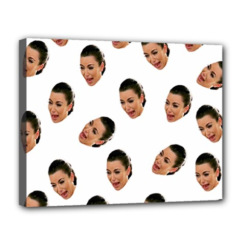 Crying Kim Kardashian Canvas 14  X 11