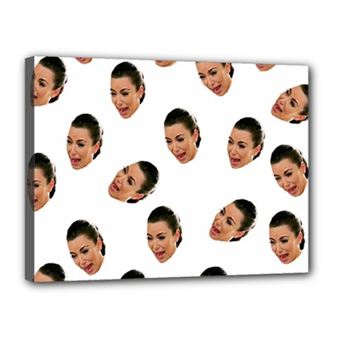 Crying Kim Kardashian Canvas 16  X 12
