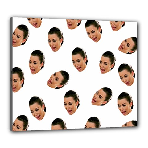 Crying Kim Kardashian Canvas 24  X 20