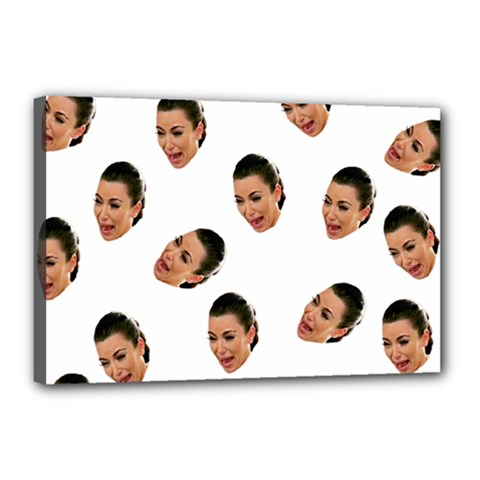 Crying Kim Kardashian Canvas 18  X 12