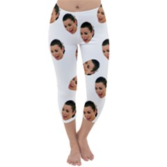Crying Kim Kardashian Capri Winter Leggings