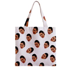 Crying Kim Kardashian Zipper Grocery Tote Bag