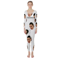 Crying Kim Kardashian Long Sleeve Catsuit