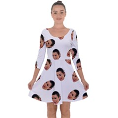 Crying Kim Kardashian Quarter Sleeve Skater Dress