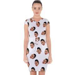 Crying Kim Kardashian Capsleeve Drawstring Dress