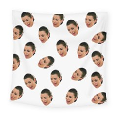 Crying Kim Kardashian Square Tapestry (large)
