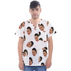 Crying Kim Kardashian Men s V Neck Scrub Top