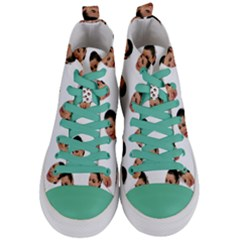 Crying Kim Kardashian Women s Mid Top Canvas Sneakers