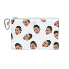 Crying Kim Kardashian Canvas Cosmetic Bag (medium)