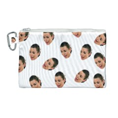 Crying Kim Kardashian Canvas Cosmetic Bag (large)