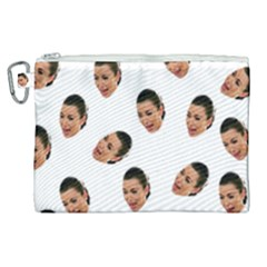 Crying Kim Kardashian Canvas Cosmetic Bag (xl)