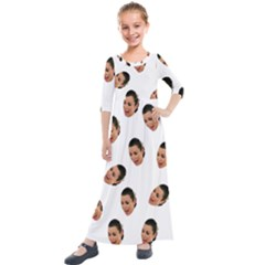 Crying Kim Kardashian Kids  Quarter Sleeve Maxi Dress
