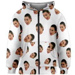 Crying Kim Kardashian Kids Zipper Hoodie Without Drawstring